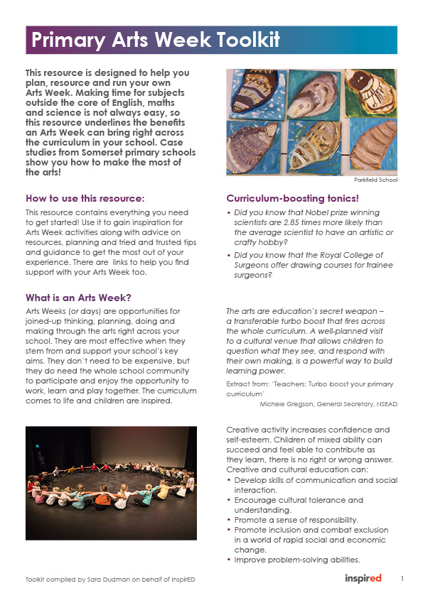Somerset Art Works » Primary Arts Toolkit: Ideas and Resources for