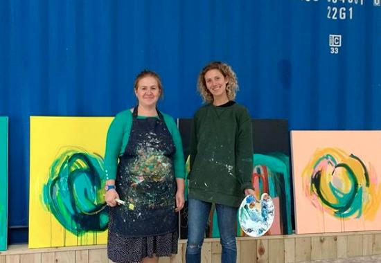Emma Housley and Megan Wakelam at Clay Hill Arts